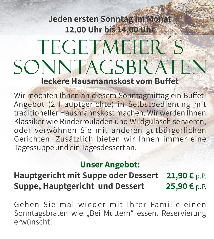 Tegetmeier Sonntagsbraten